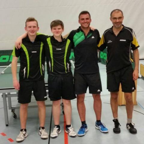 Meister 3. Kreisklasse 2017/18 – Niklas Beuscher, Pascal Häckel, Timo Strieder, Ingo Karb